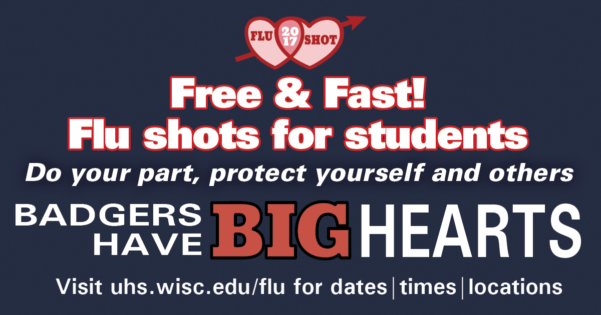 Free flu shots for students start September 21