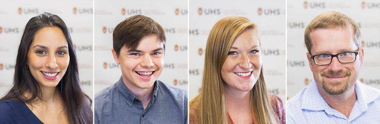 headshots of four interns of the doctoral psychology internship