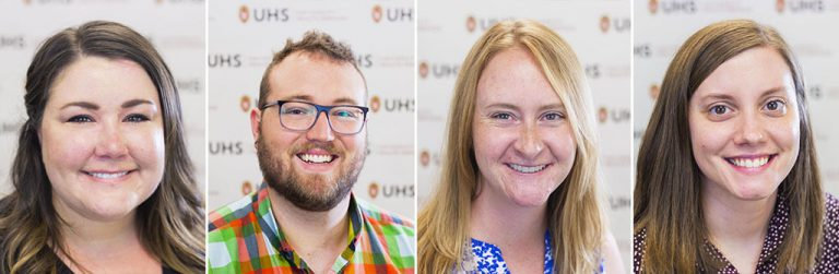 headshots of the four new postdoctoral residents