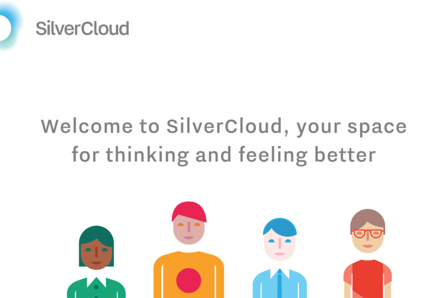 Decorative image promoting the online mental health service called Silvercloud