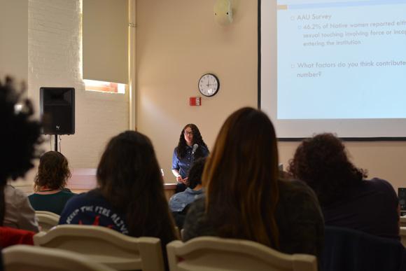 Image of Watson delivering a presentation.