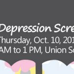 Free Depression Screening Oct. 10