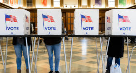 Student voting at UW-Madison
